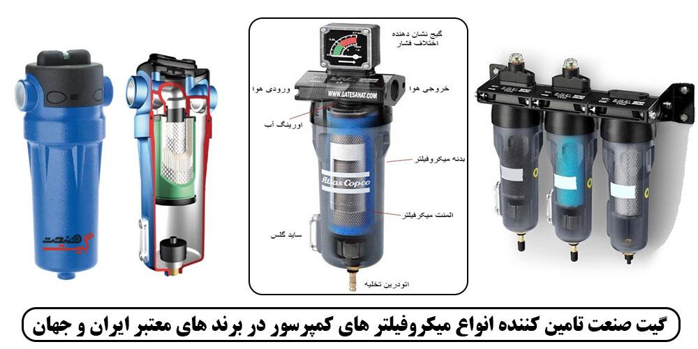 قیمت میکروفیلتر کمپرسور، فیلتر روغن گیر هوای فشرده، کاربرد میکروفیلتر، میکروفیلتر اولیه، میکروفیلتر ثانویه