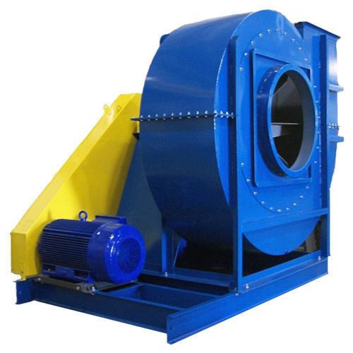 هواکش سانتریفیوژ آبی رنگ صنعتی بزرگ